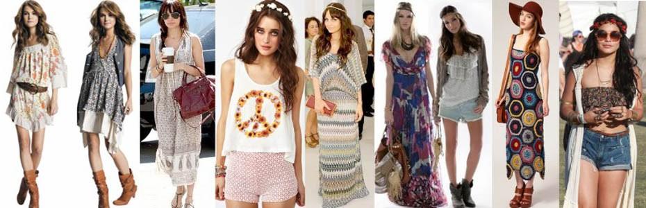 mode hippie chic femme